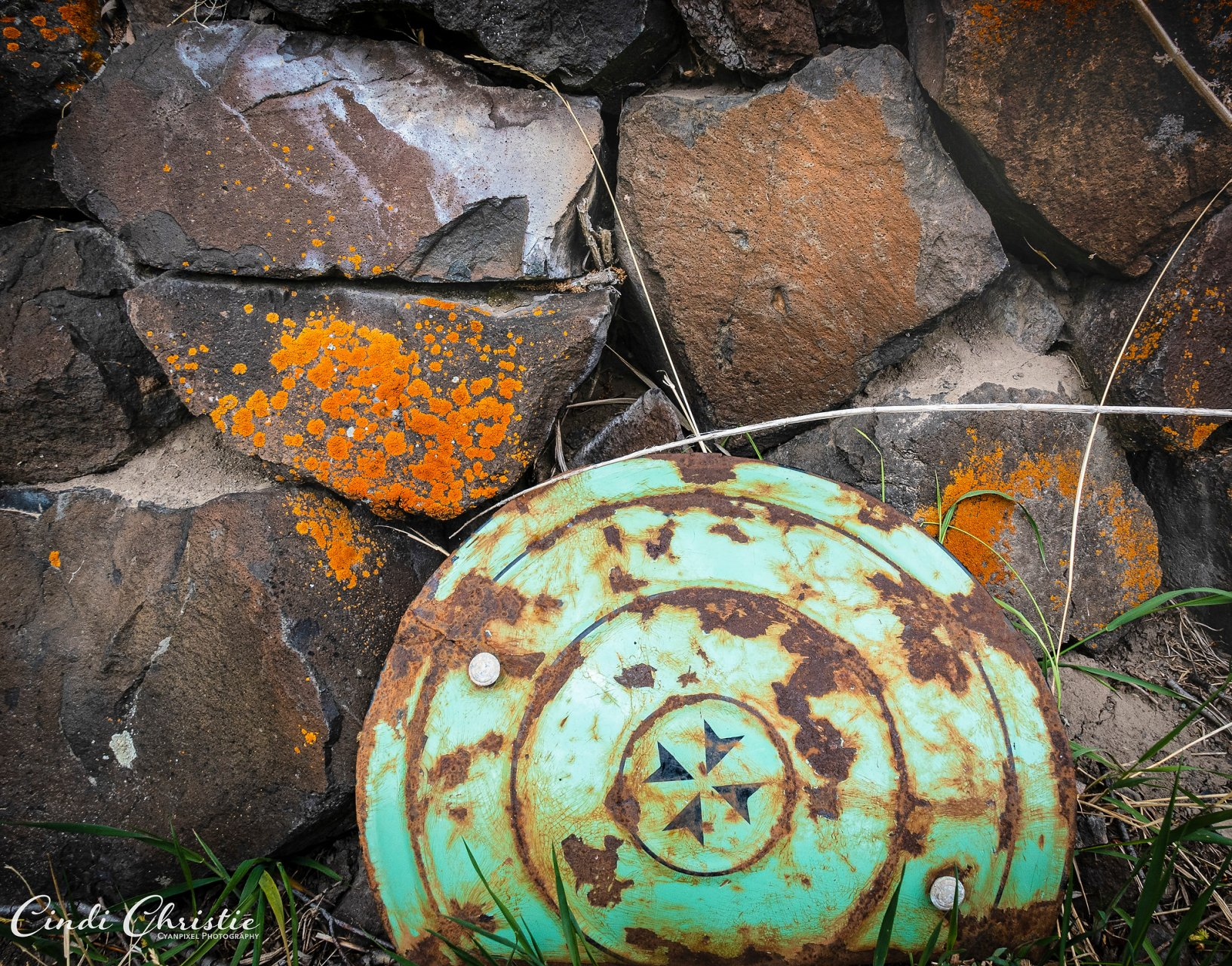 Old metal objects remain on the property.